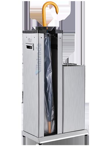Embalador de Guarda-Chuvas Unipack Aço Inox Escovado Com Lixeira VIT 2000W