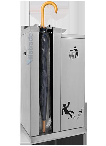 Embalador de Guarda-Chuvas Unipack Aço Inox Escovado Com Lixeira VIT 6000W