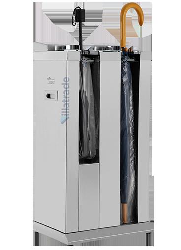 Embalador de Guarda-Chuvas Unipack Aço Inox Escovado Duplo VIT 8000