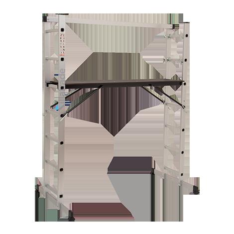Escada Plataforma Multifuncional Alumínio 2,72 Metros